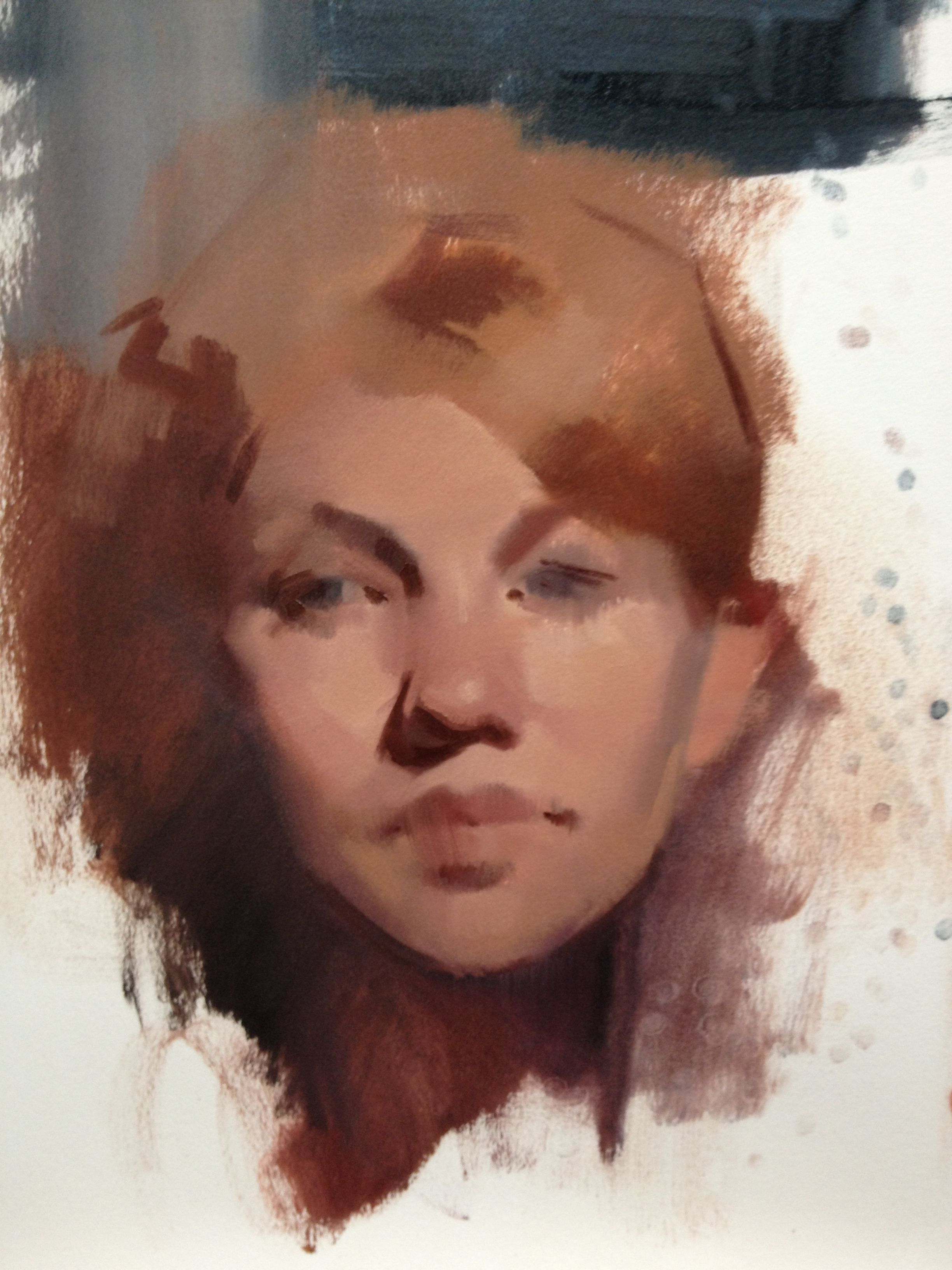 Felicia Forte (alla prima painting)