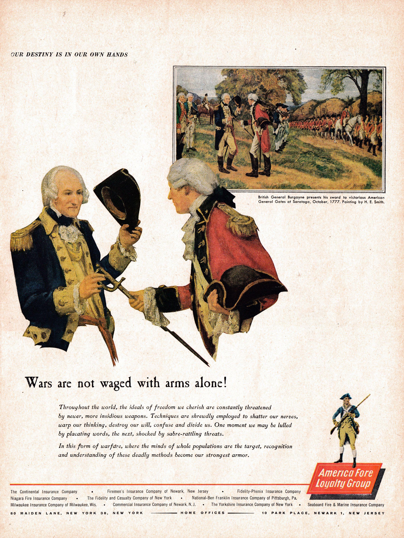 1962 Revolutionary War Surrender Burgoyne Aflg Original 13 5