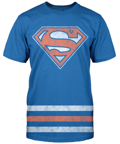 Superman Team Colors T Shirt Blue White Orange Jack Of All Trades Clothing