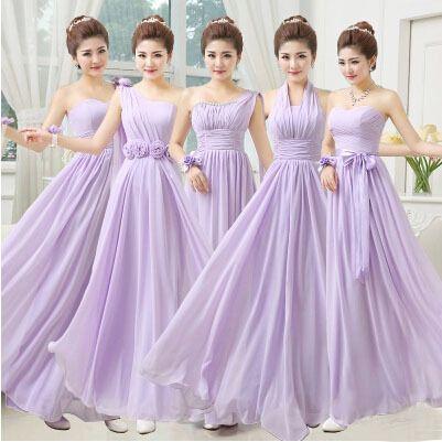 20 Damas de honor lila