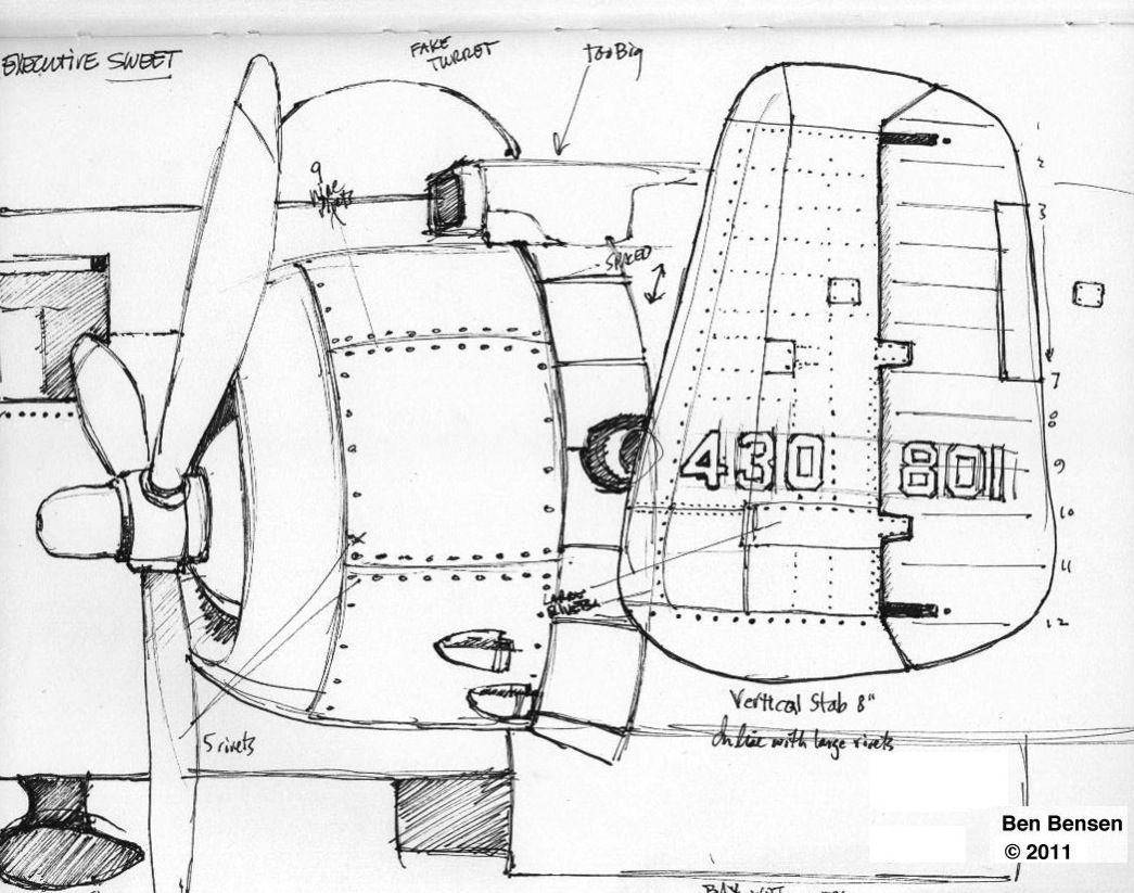 B 25 Engine Nacelle Illustration
