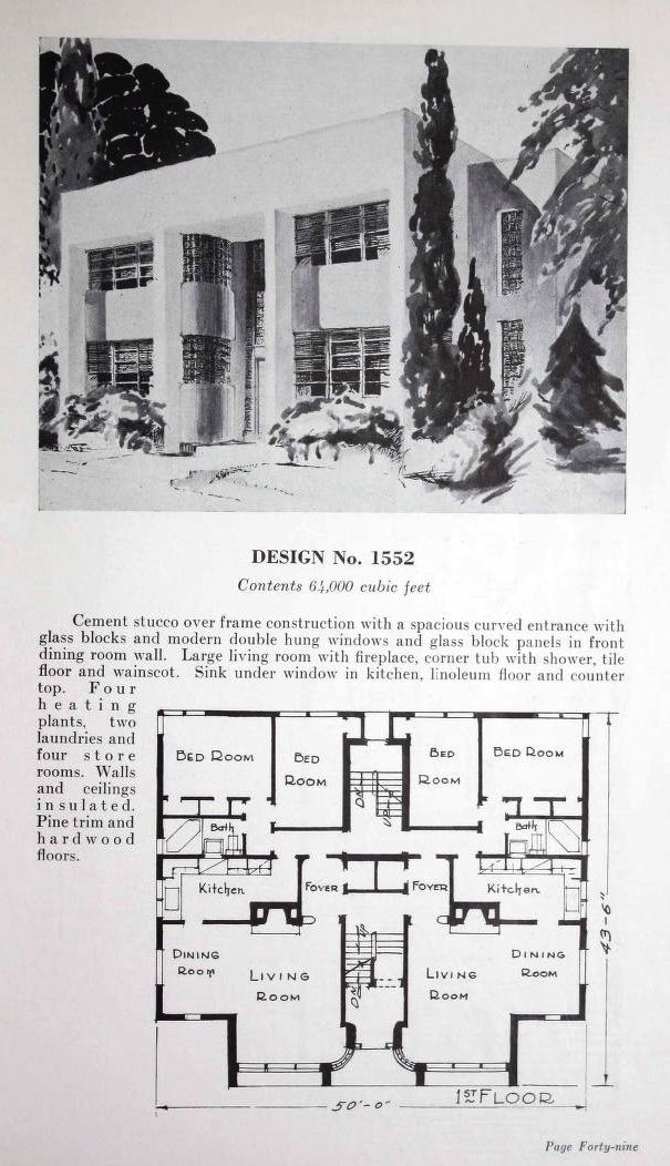 Apartment Building Association duplex and apartment houses / copyrightj.w. lindstrom