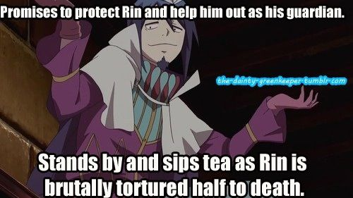"""Blue Exorcist ~~ Mephisto knows """"that which does not kill us makes us stronger."""""""