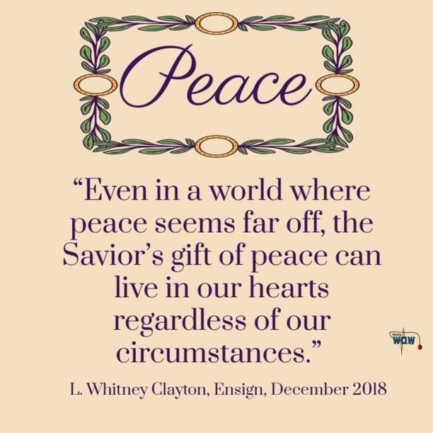 Even In A World Where Peace Seems Far Off Daily