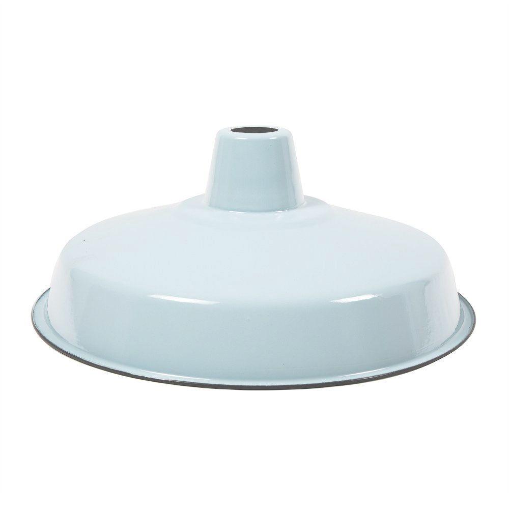 Enamel lamp shades enamel lamp shade e27 pale bluegrey enamel enamel industrial lamp shade modern blue grey shade cult uk aloadofball Images