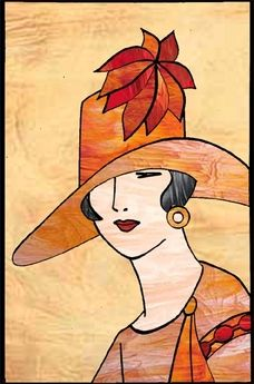 Lady In Orange Hat Picture Want To Do Applique Quilt With This