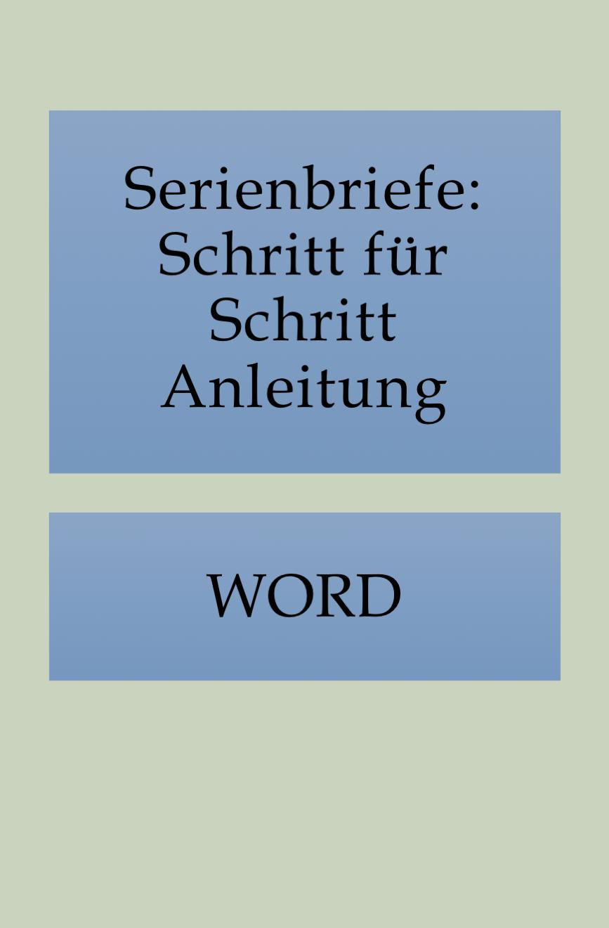 Einen Serienbrief In Word Erstellen In 2020 Brief Kenntnisse Tricks