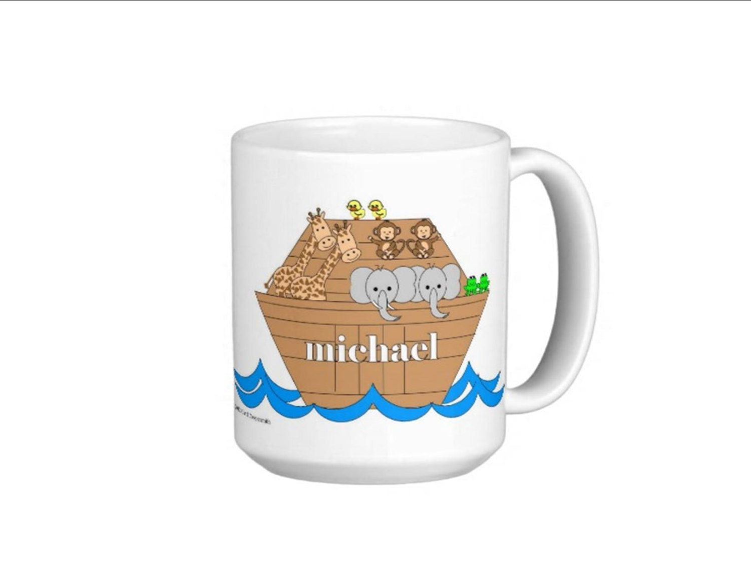 Noah's Ark Personalized Mugs - 11 oz. For Boys and Girls
