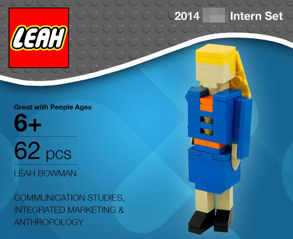 Northwestern student builds lego resume and cover letter
