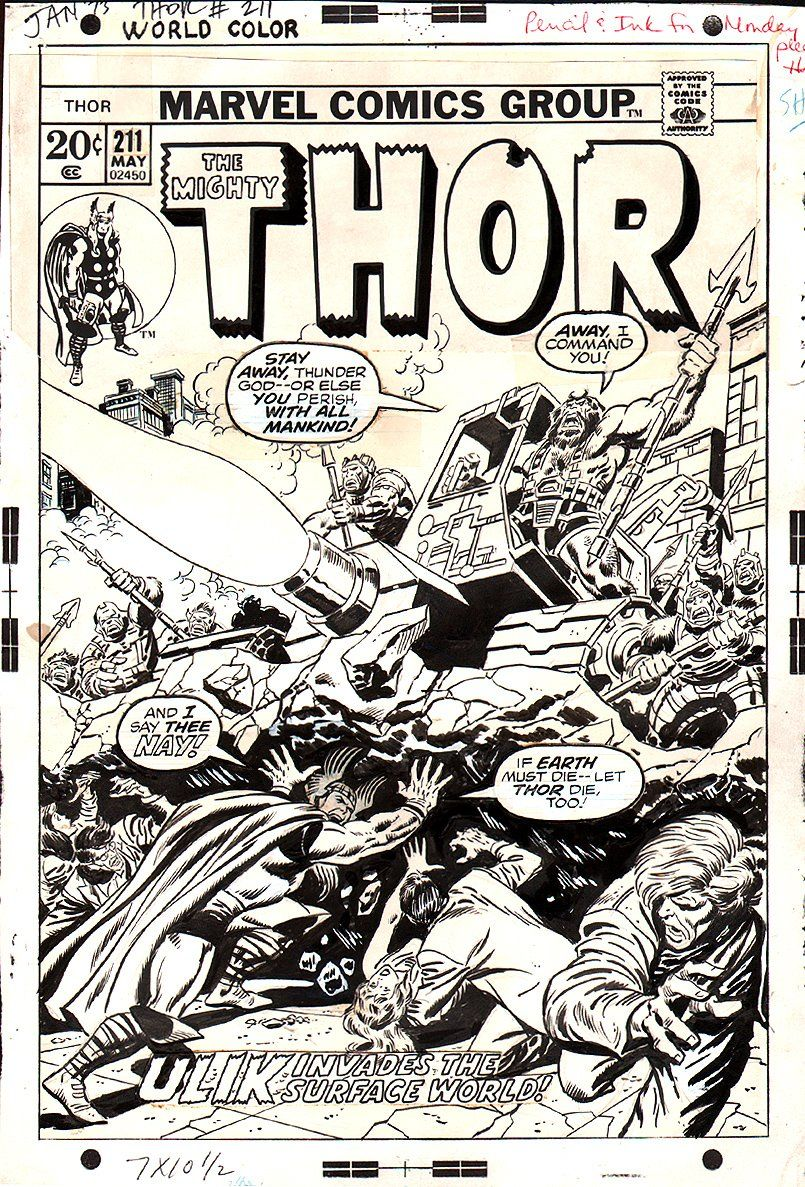 Thor #211 Cover (1973) by John Buscema, John Verpoorten