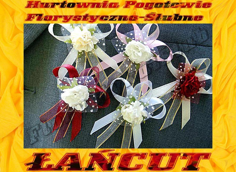 Kotyliony Przypinki Kokardki Z Kwiatem Dla Gosci 2499570165 Oficjalne Archiwum Allegro Gift Wrapping Maid Of Honor Gifts
