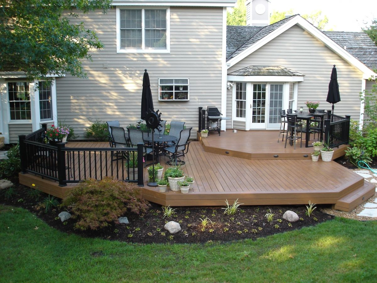 Maintenance Free Decks Deck Designs Backyard Decks Backyard Backyard Patio