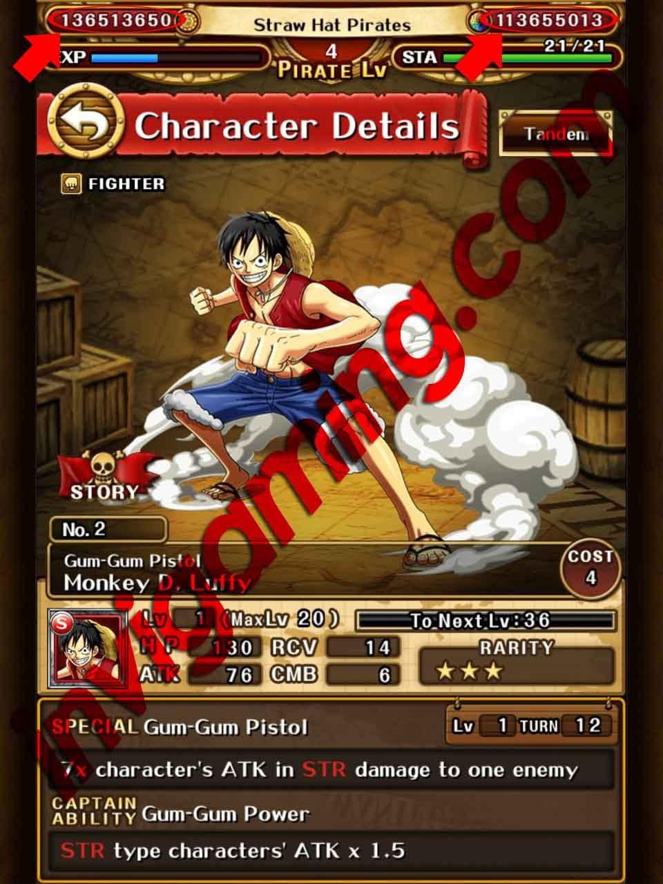 one piece treasure cruise gem hack