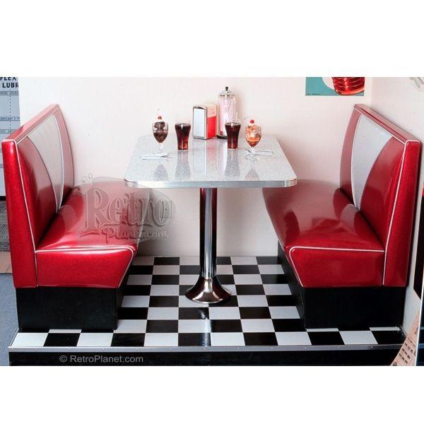 50s V Back Diner Booth Sets Retro Furniture Retroplanet