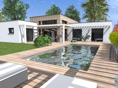 maison toit plat Piscinas Pinterest Interior designing