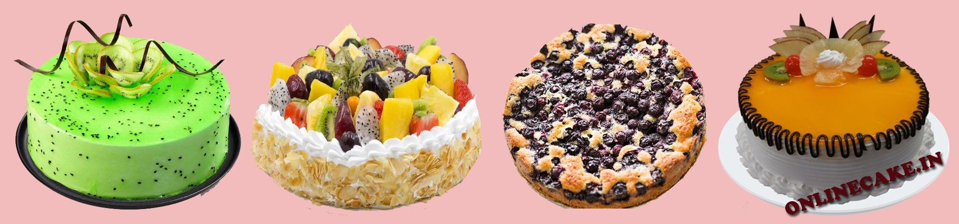 Cakes and fruits a mesmerising combo yummy cakes