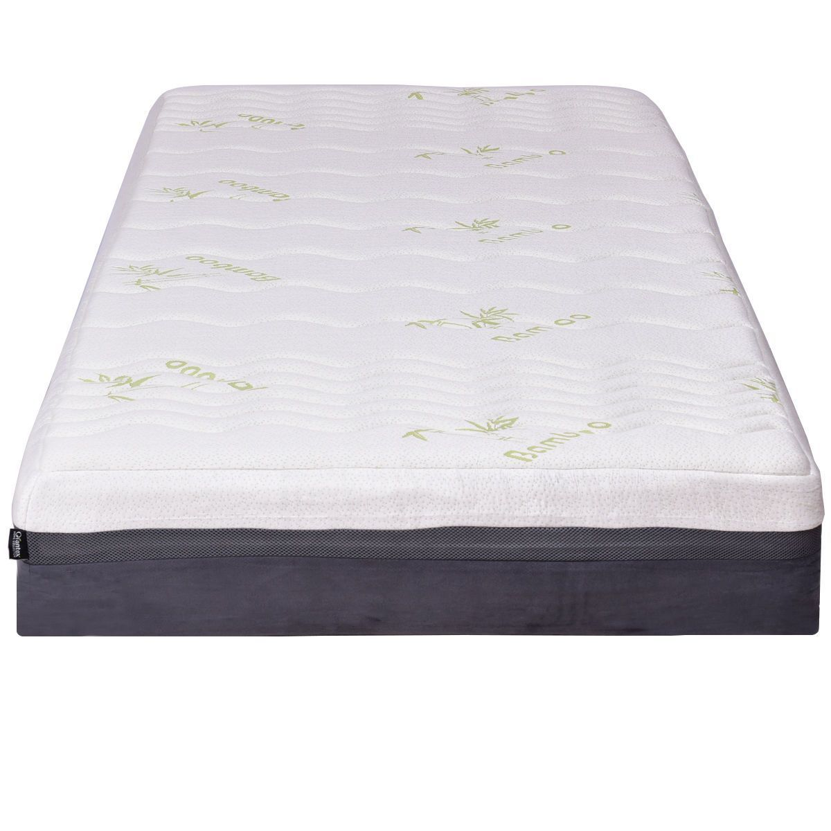 King Size 10 Bamboo Fiber Cover Memory Foam Mattress ม ร ปภาพ