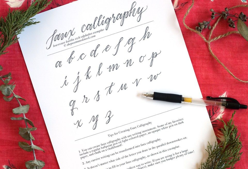 Faux calligraphy tutorial calligraphy bullet and journal