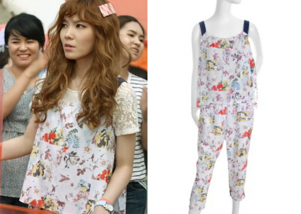 "Shin Bo-Ra in ""Trot Lovers"" Episode 4.  BNX Flower Print Jumpsuit #Kdrama #TrotLovers #트로트의연인 #ShinBoRa #신보라"