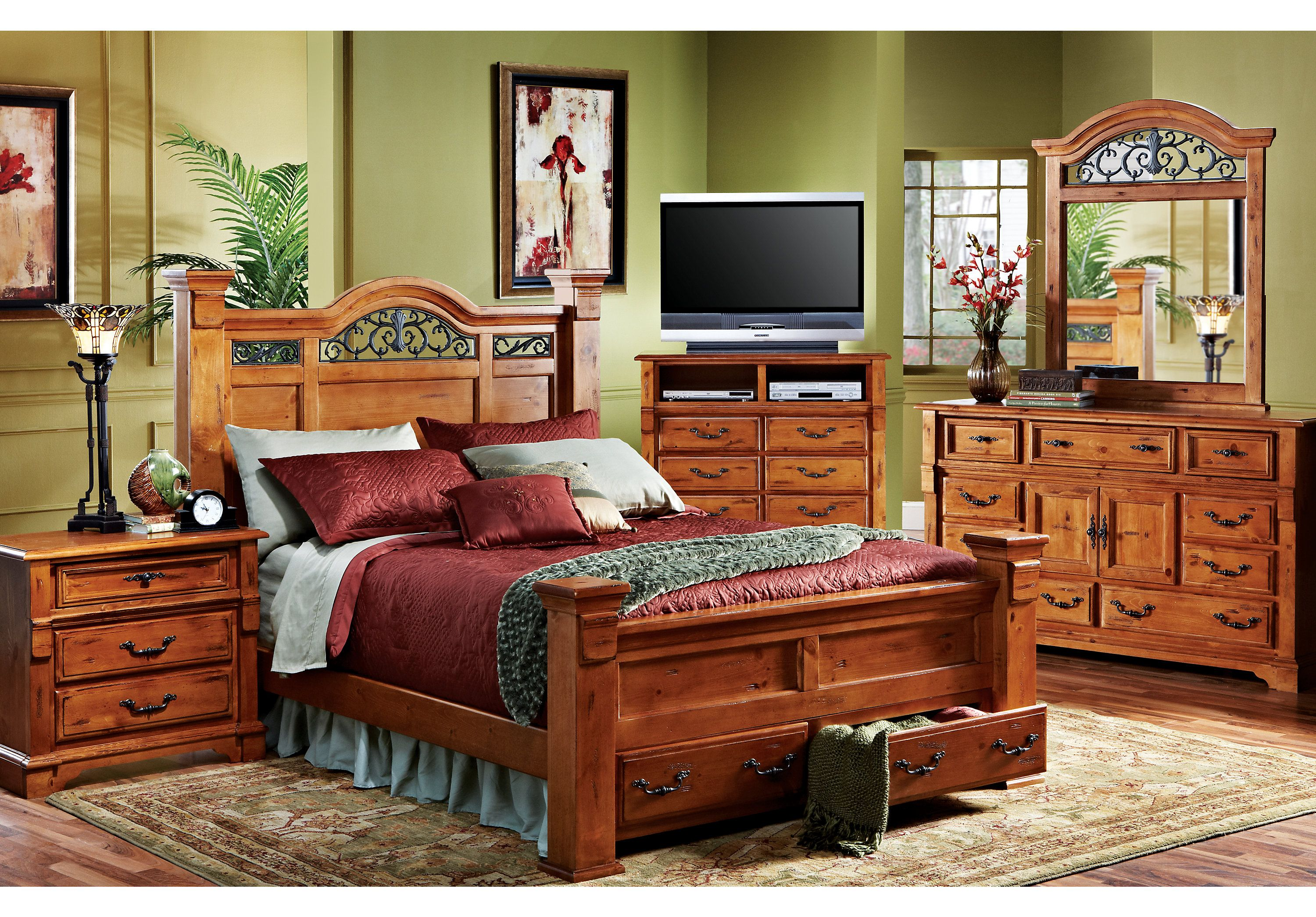 Shop For A Merrifield 5 Pc Queen Storage Bedroom At Rooms To Go. Find Bedroom  Sets That Will Look Great In Your Home And Complement The Rest Of Your ...