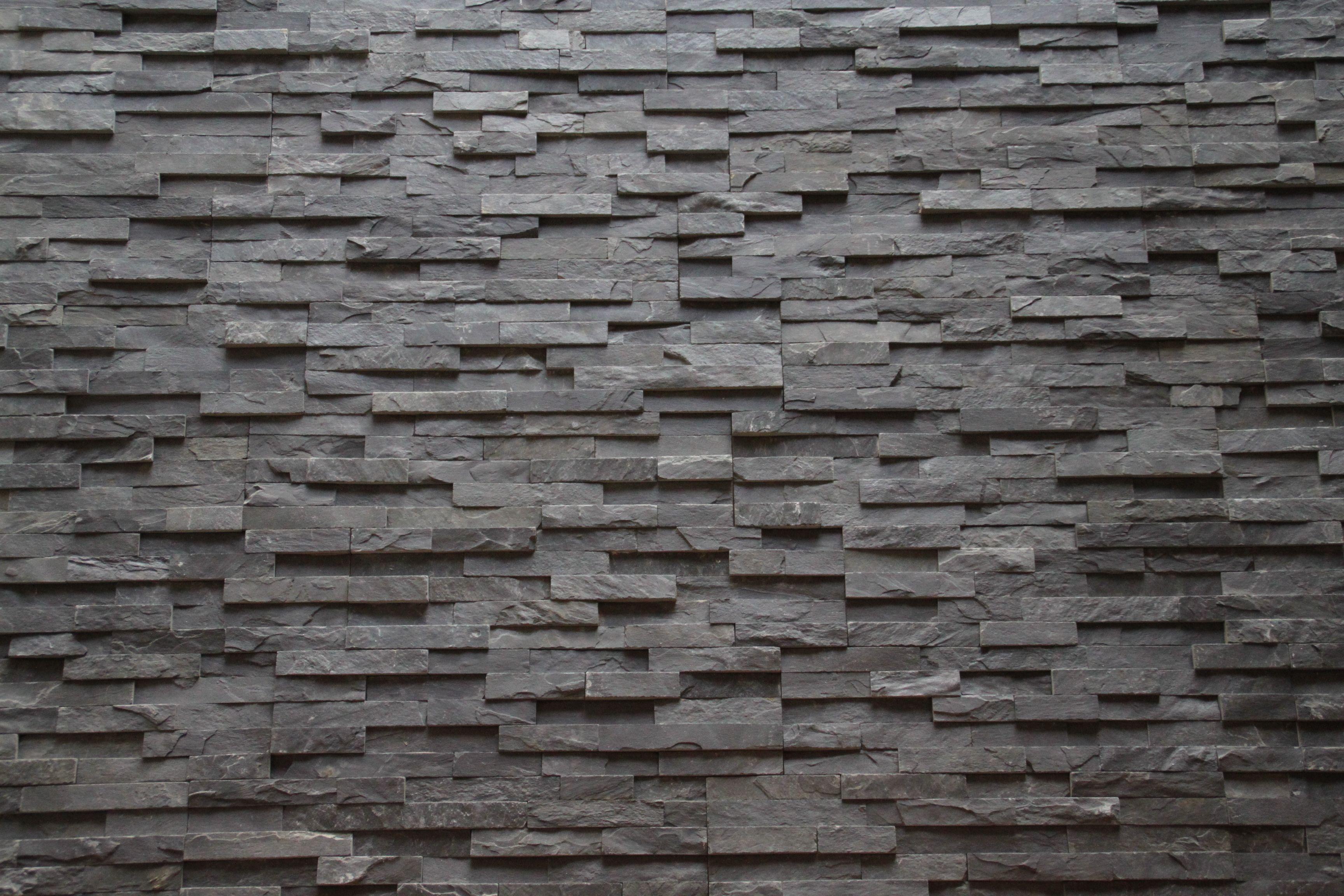 Steenstrips leisteen walls pinterest projects slate and in - Wandbekleding voor wc ...