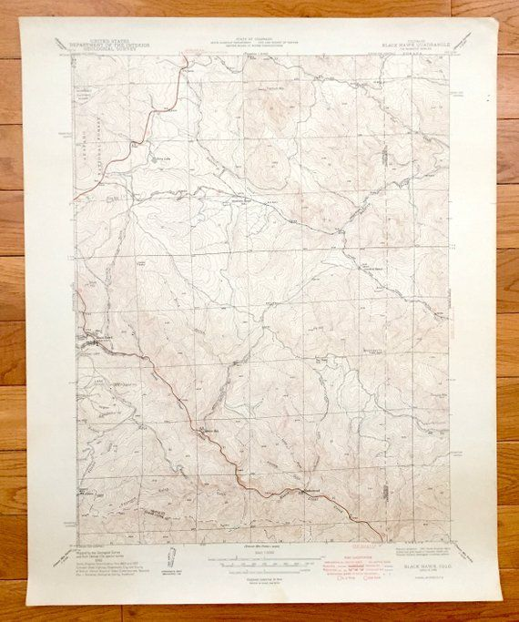 Antique Black Hawk Colorado 1948 Us Geological Survey Topographic