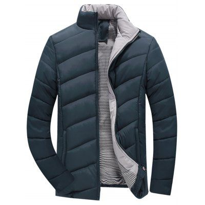 Padded Jacket Blackish Green M Plus Size Outerwear Sale Price Reviews Gearbest Mobile Winter Jacket Men Mens Outfits Jackets Fashion Casual