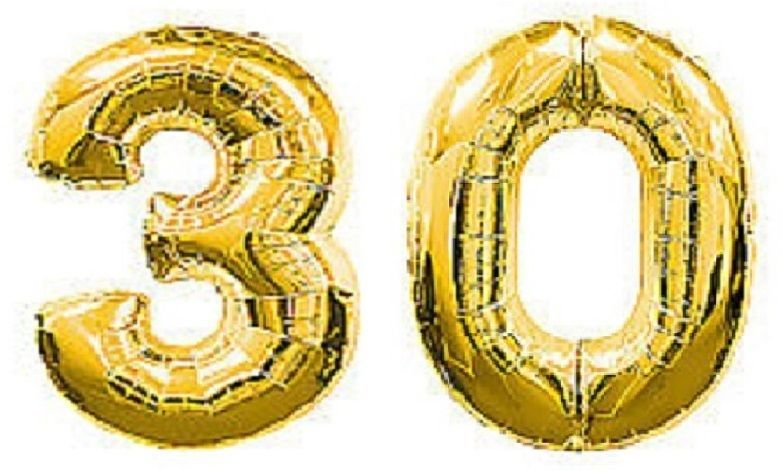 Large Number 30 Gold Balloons 30th Birthday Anniversary Party Foil