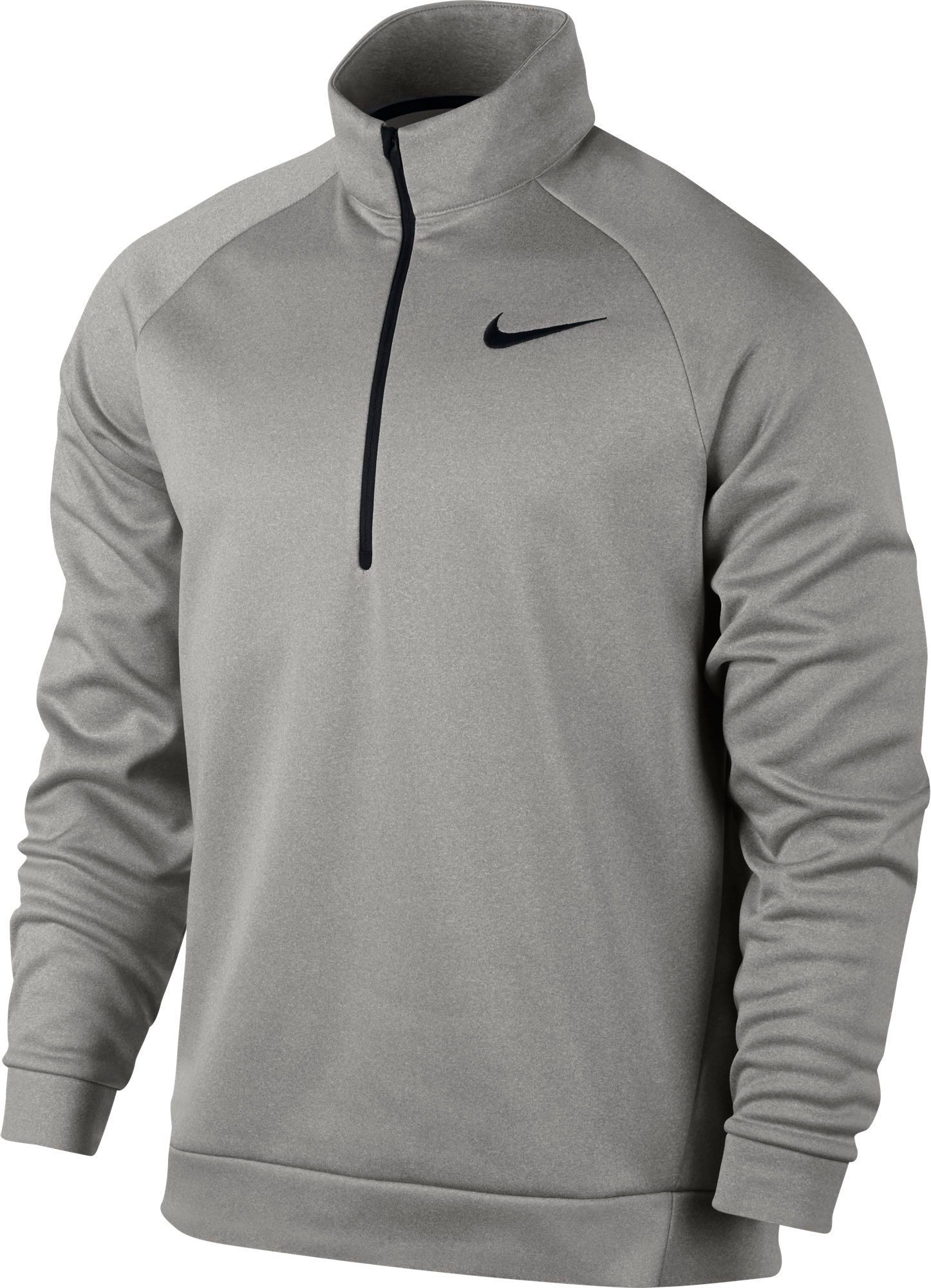 fd501cc1 Nike Men's Therma Long Sleeve Quarter Zip Shirt, Size: Medium, Gray ...