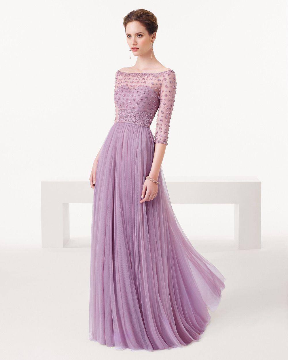 3 quarter evening dresses models | Color dress | Pinterest ...