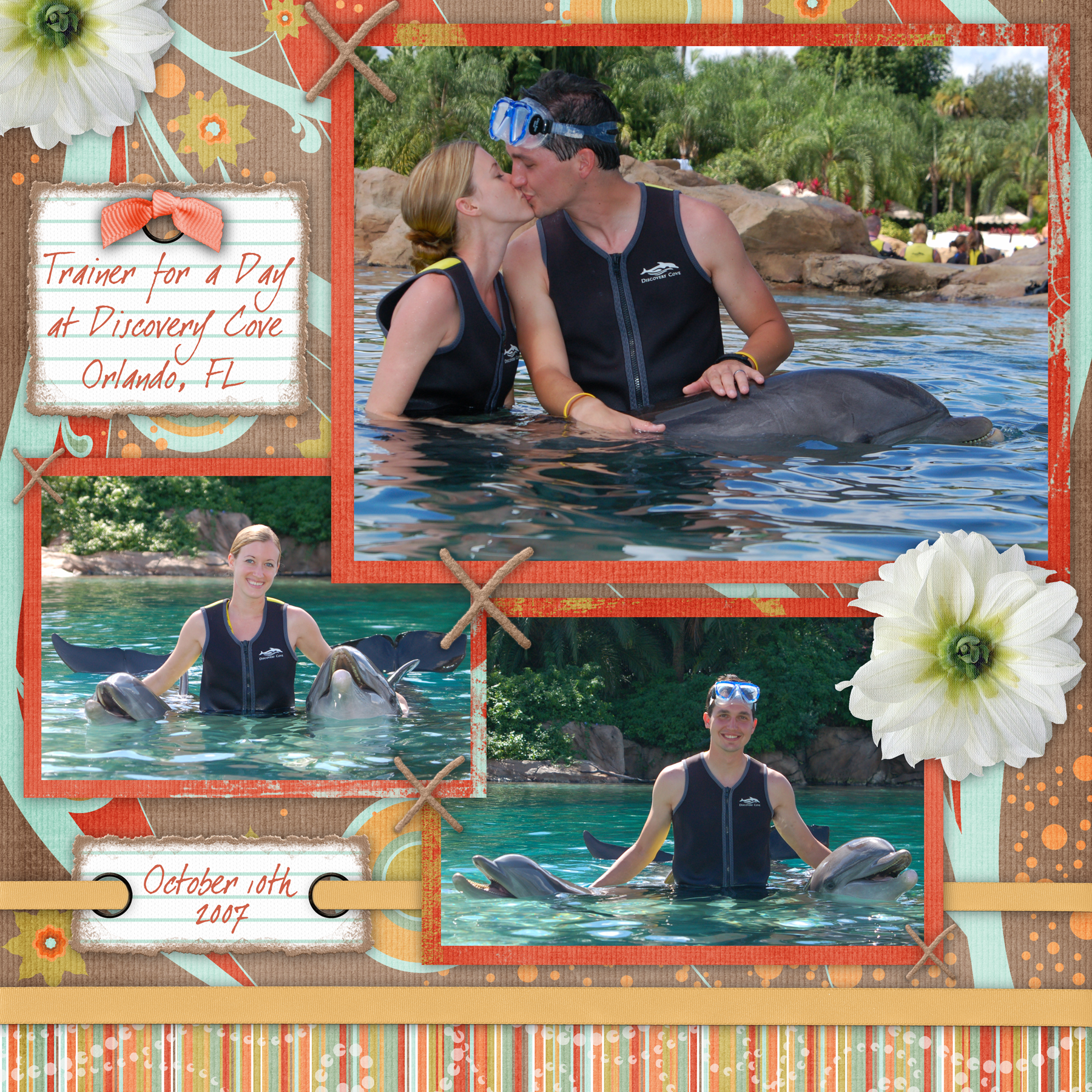 Honeymoon Scrapbook Google Search Great Use Of Color And Tagging
