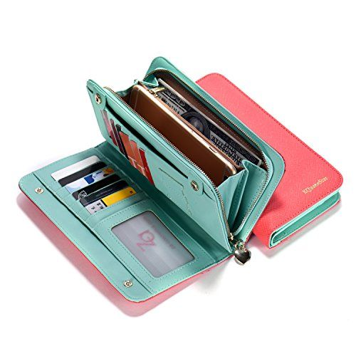 68ff63a77c65 Aqua Pink Women Lady Leather Wallet Purse Credit Card | C L O S E T ...