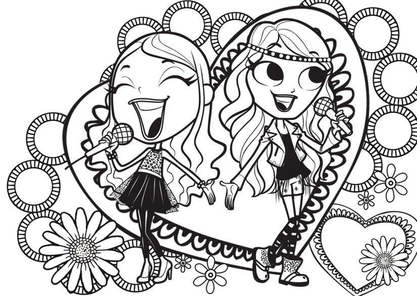 Disegno Da Colorare Maggie E Bianca Fashion Friends Disegni Da Colorare Disegni Idee Per Disegnare