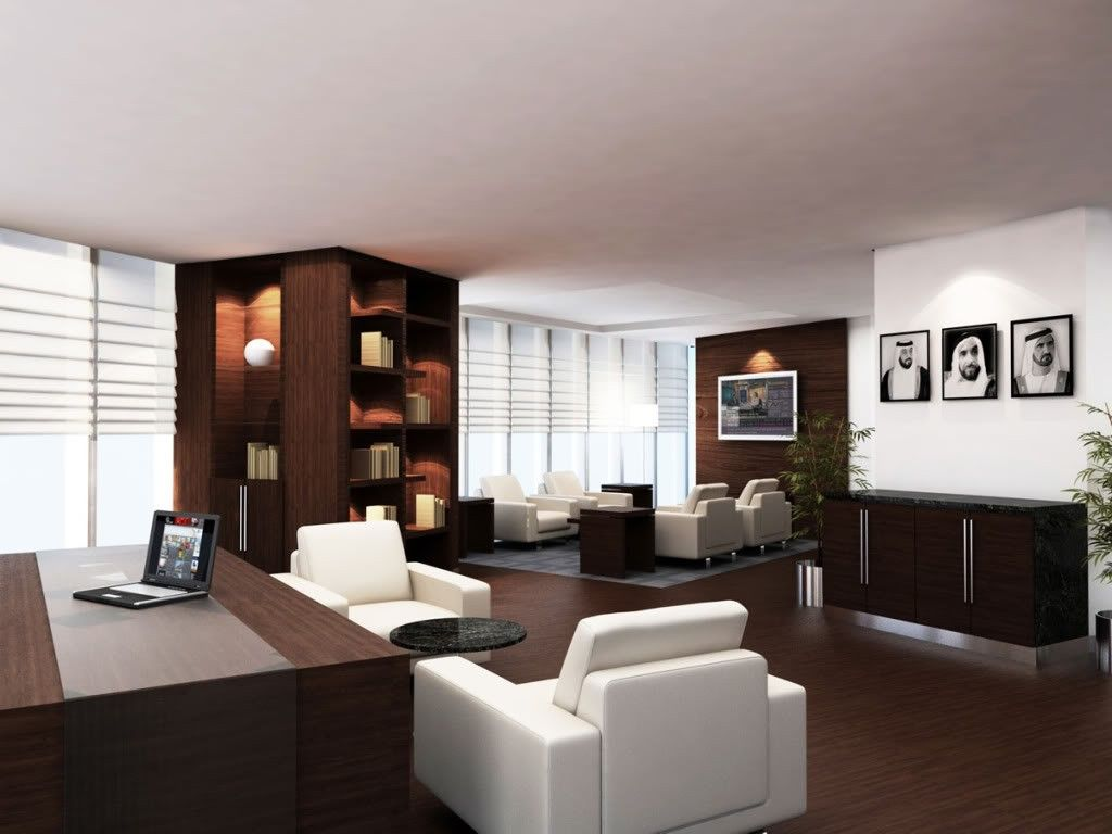 Executive office interior design exceptional elegant large for Big office design