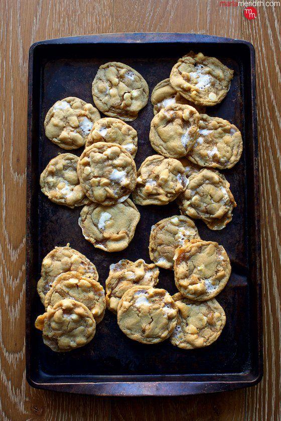 White Chocolate Marshmallow Cookies #chocolatemarshmallowcookies