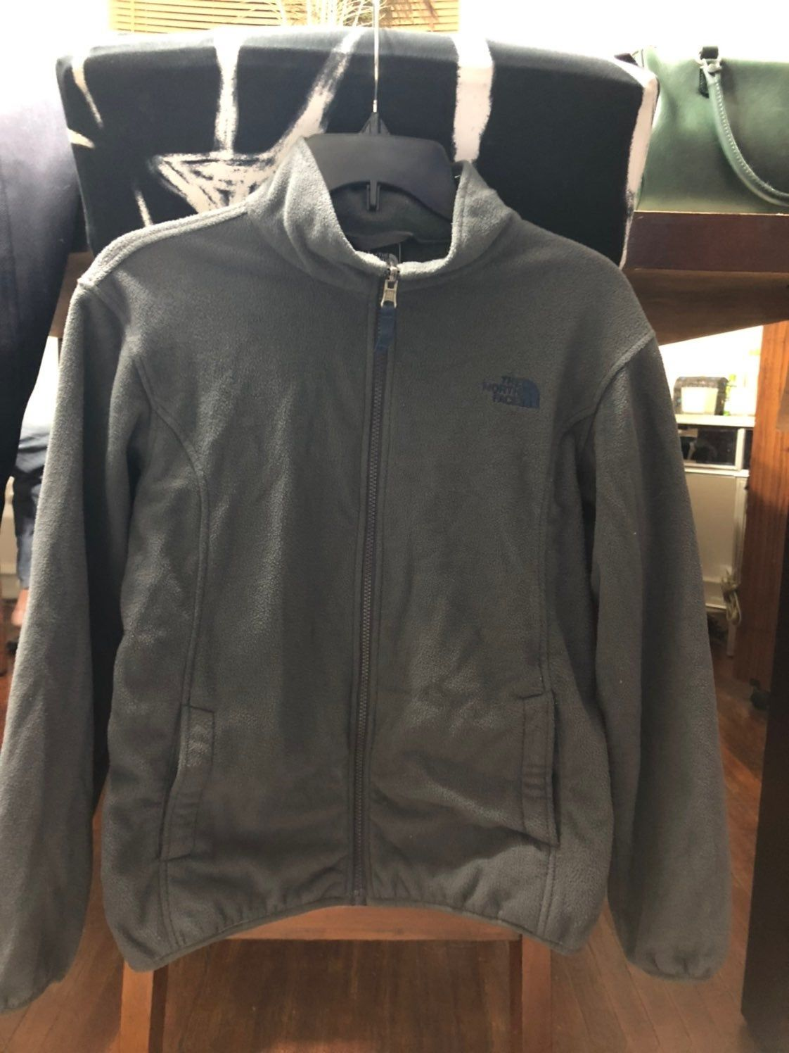 North Face Jacket Boys Size Large Gray Color W Blue Accent North Face Jacket Boys Jacket Jackets [ 1496 x 1122 Pixel ]