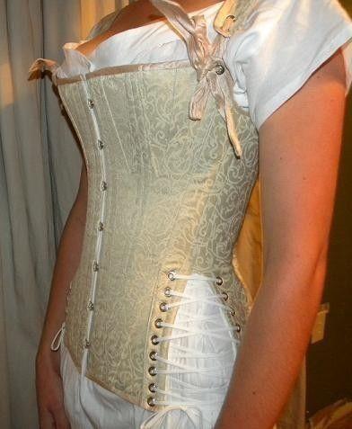 custom made regency period riding corset free