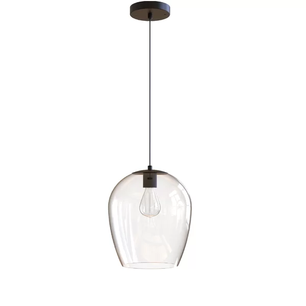 Kiro 1 Light Single Bell Pendant Single Pendant Lighting Glass Pendant Light Bell Pendant