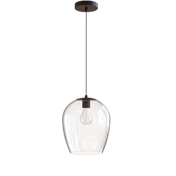Kiro 1 Light Single Bell Pendant Glass Pendant Light Jar Lights