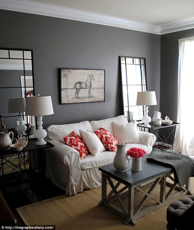Grey Blue And Brown Living Room Design: Painting Homes Terracotta Or Dark Brown Can Hurt Selling