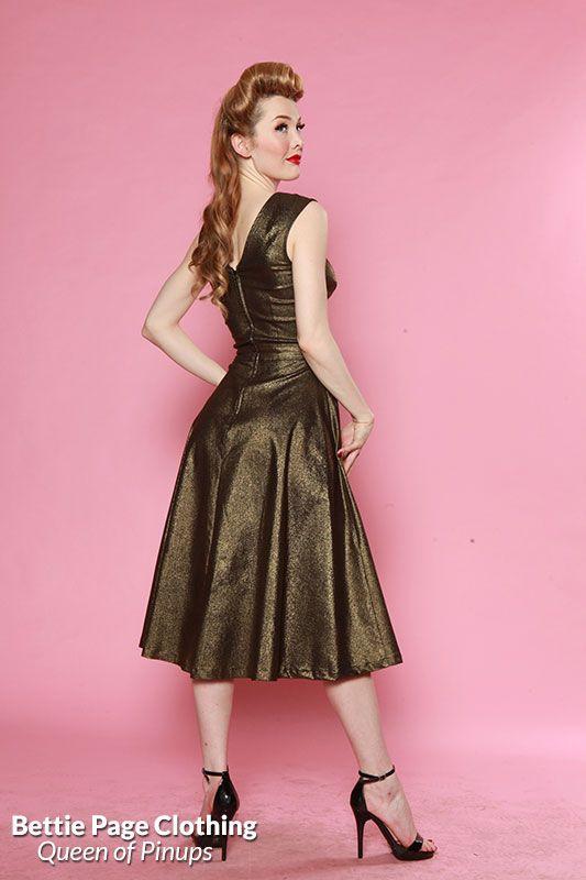Roman Holiday Shiny Dress (Burnished Gold | Pinterest