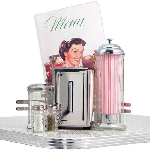 Kitchy Kitchen Decor: Amazon.com: Retro 50s Diner Style Tableware Set: Home & Kitchen