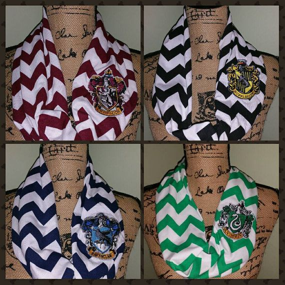 a059048916752 Harry Potter Scarf-Harry Potter Embroidered Scarf-Harry Potter Infinity-Gryffindor  Scarf-Slytherin Scarf-Ravenclaw Scarf-Hufflepuff Scarf