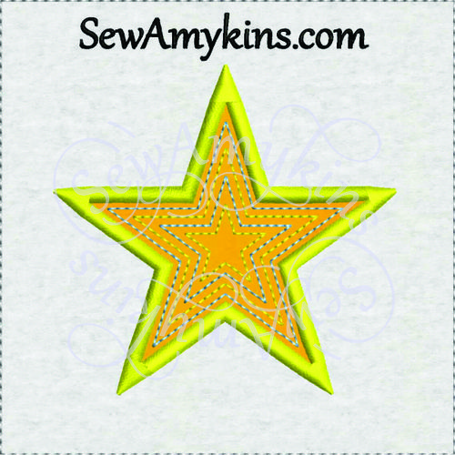 Star Applique Embroidery Design Free Machine Embroidery And