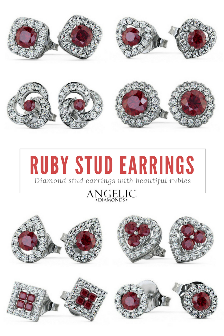 These ruby stud earrings are classic enough to wear every day while