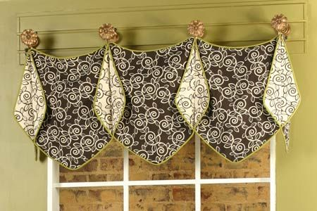Free Valance Curtain Patterns | Missy Valance with pointed bottom ...