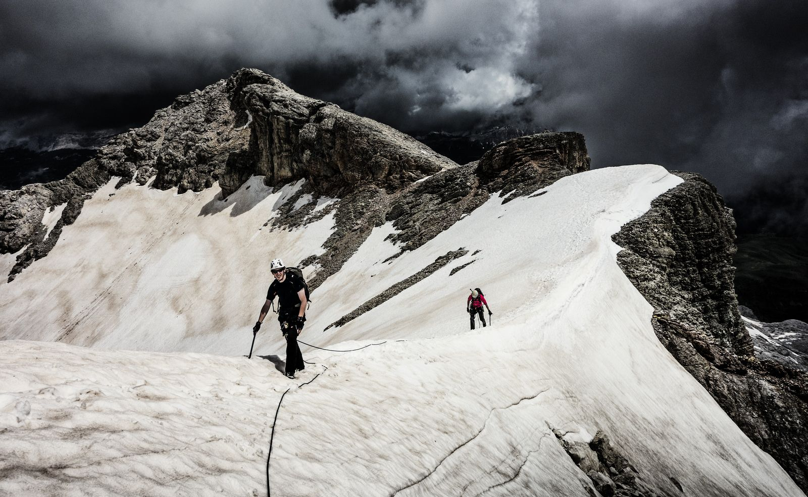 Black Weather in The Dolomites