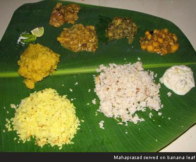 Mahaprasad Served On Banana Leaf Lord Jagannath Lord Balaji Food