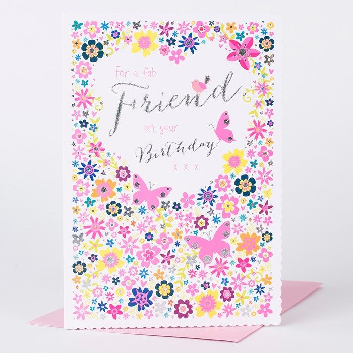 Wish a fabulous friend a fabulous birthday with this bright and explore buy now card factory and more bookmarktalkfo Choice Image