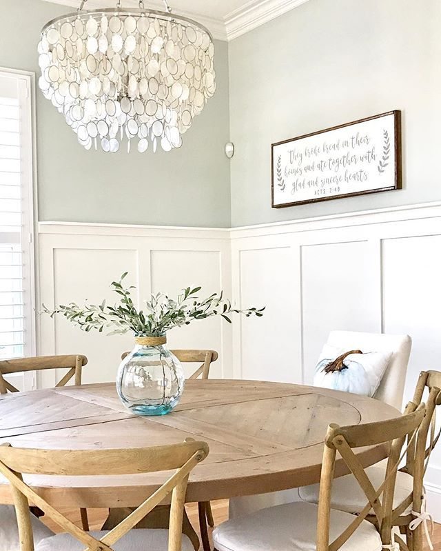 SW Silver Strand on top | Paint Colors: Neutrals in 2019 | Dining ...